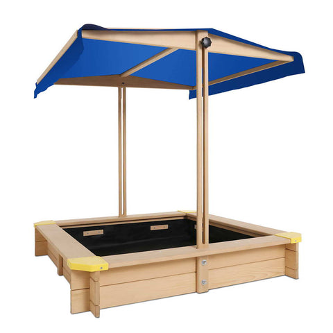 Wooden Outdoor Sand Pit- Natural Wood