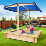 Wooden Outdoor Sand Pit- Natural Wood Set Up