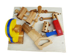 Pretend Play Wooden Work Bench Tools