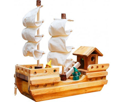 Wooden Pirate Sailing Ship