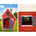 Kids Cubby House Wooden Outdoor Playhouse Windows