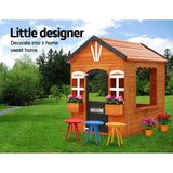 """Natural Timber Cottage"" Kids Cubby Play House"