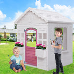 """Flower Cottage"" Kids Cubby Play House"