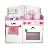 Kitchen Pretend Play Set - Pink Front