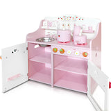Kitchen Pretend Play Set - Pink Open
