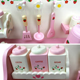 Kitchen Pretend Play Set - Pink Spoons