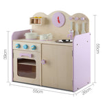 Wooden Kitchen Play Set - Natural & Pink Sizes