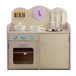 Wooden Kitchen Play Set - Natural & Pink Front