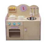 Wooden Kitchen Play Set - Natural & Pink Top