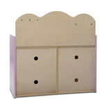 Wooden Kitchen Play Set - Natural & Pink Rear