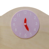 Wooden Kitchen Play Set - Natural & Pink Close Up Clock
