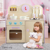 Wooden Kitchen Play Set - Natural & Pink Life Size