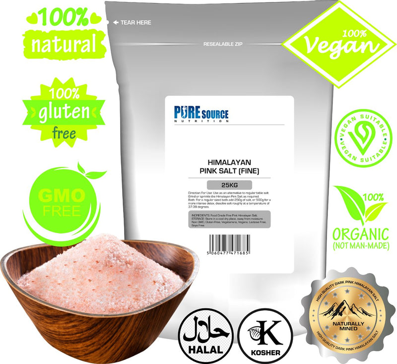 Pure Source Nutrition Himalayan Pink Salt - Fine - White Label - Pure Source Nutrition