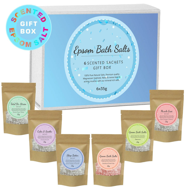 Pure Source Nutrition Epsom Salt Variety Box 6x35g - Pure Source Nutrition