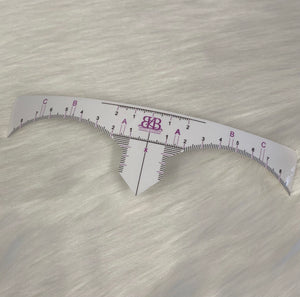 Brow Mapping Ruler