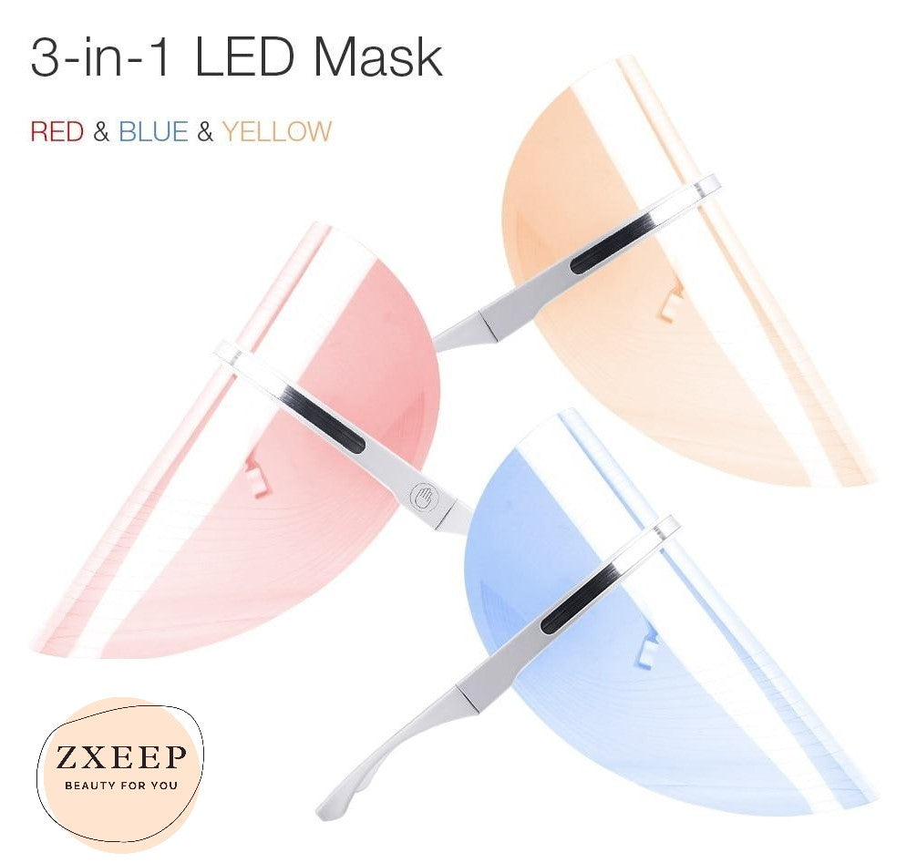 3 Light LED Photon Therapy Facial Mask