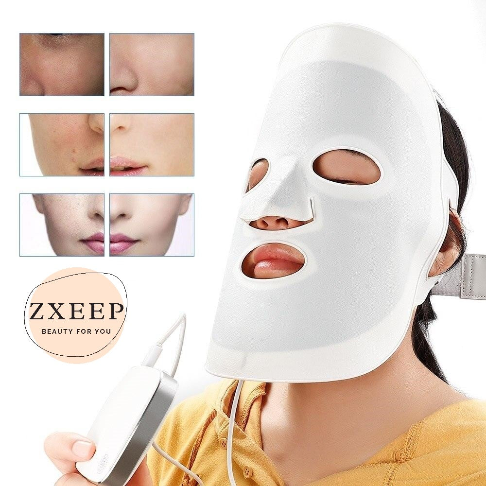 Silicone Light Therapy LED Facial Mask
