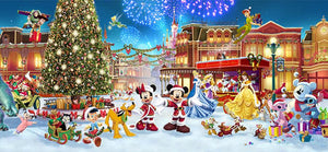 Christmas Mickey Minnie Donald Princesses Diamond Painting Kit - DIY
