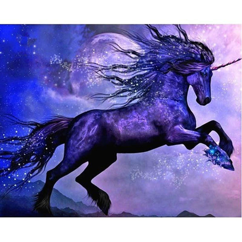 Purple Unicorn Diamond Painting Kit - DIY