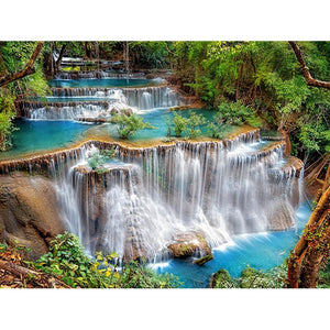 Scenic Waterfall Diamond Painting Kit - DIY