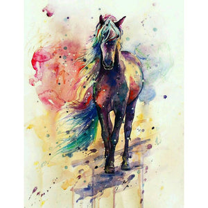 Multi Color Horse Diamond Painting Kit - DIY