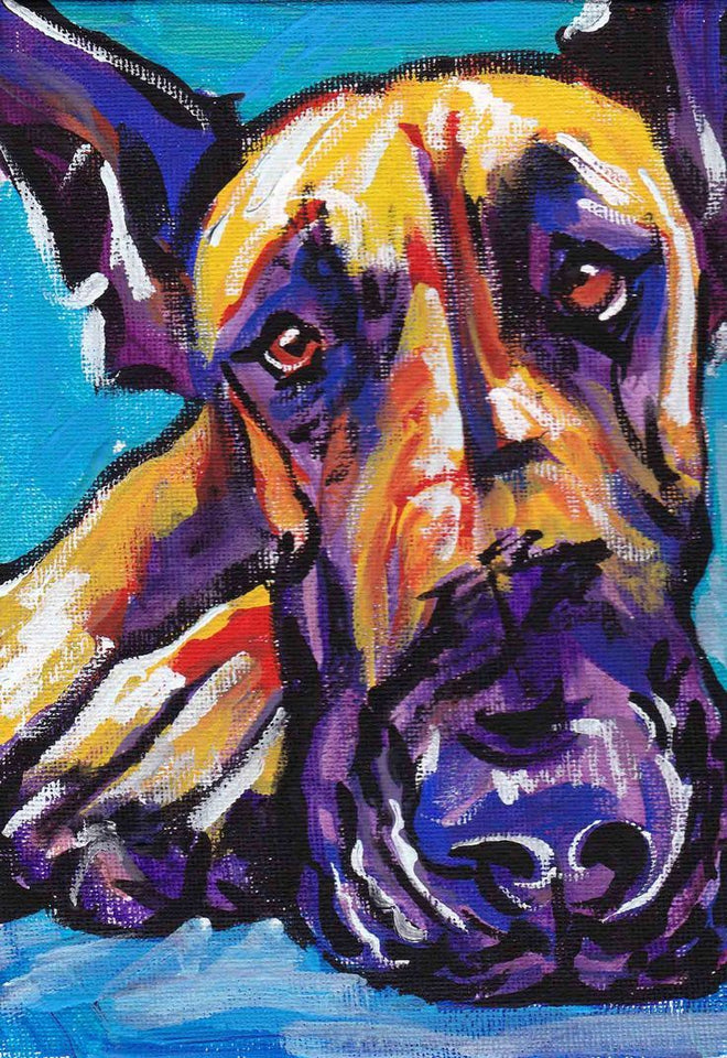 Great Dane Colors Love Diamond Painting Kit - DIY
