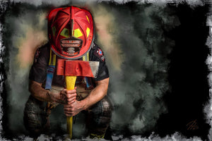 5d Fireman Firefighter Diamond Painting Kit Premium-24