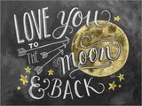 Love You Moon Diamond Painting Kit - DIY