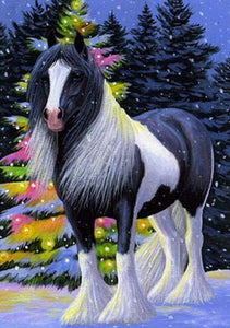 Horses Black And White Diamond Painting Kit - DIY