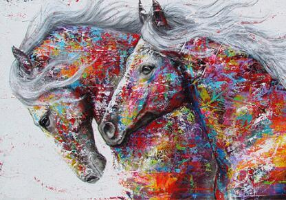 Horses Full Colors Diamond Painting Kit - DIY