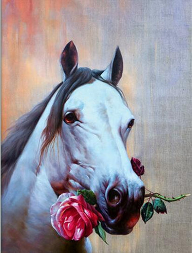 Horses Rose Diamond Painting Kit - DIY