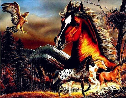 Horses Fast Diamond Painting Kit - DIY