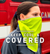 On-the-Go Reusable Cooling Towel & Face Cover | Hi Vis Green