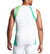 MISSION x WADE COLLECTION Sleeveless Compression Shirt | Maze Aqua Yellow/ White