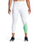 MISSION x WADE COLLECTION Compression ¾ Tights | Maze Aqua Yellow/ White