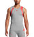 MISSION x WADE COLLECTION Sleeveless Compression Shirt | Hex Orange/ Grey