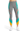 VaporActive Aerial Mid-Rise Crop Leggings | Quiet Shade/ Viridian Green/Gold Fusion
