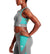 VaporActive Sensory Cross Back Medium Impact Sports Bra | Quiet Shade/ Viridian Green/ Gold Fusion