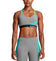 VaporActive Temper Racerback Medium Impact Sports Bra | Quiet Shade/ Viridian Green/ Gold Fusion
