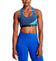 VaporActive Temper Racerback Medium Impact Sports Bra | Estate Blue/ Rush Lapis Blue/ Viridian Green