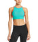 VaporActive Sensory Cross Back Medium Impact Sports Bra | Viridian Green / Emberglow