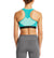 VaporActive Temper Racerback Medium Impact Sports Bra | Viridian Green / Pool Blue