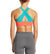 VaporActive Celsius Crossback Medium Impact Sports Bra | Emberglow / Viridian Green