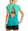 VaporActive Isobar Open Back Top | Viridian Green / Pool Blue