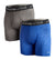 VAPORACTIVE BOXER BRIEFS - 2 PACK | Royal Blue / Charcoal