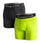 VAPORACTIVE BOXER BRIEFS - 2 PACK | Hi Vis Green / Black