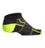 VaporActive Performance No-Show Socks - 2 Pack | Hi Vis Green /Black