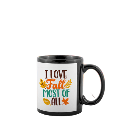 BLACK MUGS WHITE PATCH