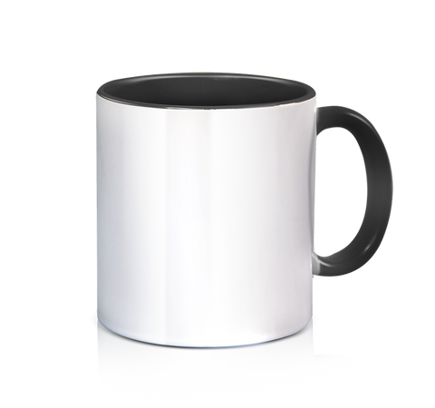 Ceramic 3 Tone Mug - Black - 11oz