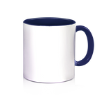 Ceramic 3 Tone Mug - Dark Blue - 11oz